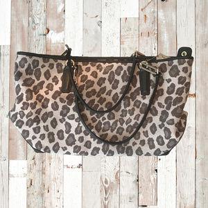 COACH Madison Leopard Canvas Tote